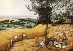 JP London TMC2006PS Bruegel Prepasted Removable Wall Mural, The Masters Collection The Harvesters, 12 by 8.5-Feet