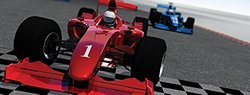 JP London MD3088PS uStrip Peel and Stick Mural Vroom F1 Indy Formula Racing Cars Fully Removable Panoramic Wall Mural, 4-Feet High by 10.5-Feet Wide