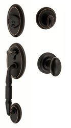 Fusion Hardware H-02-S3-0-ORB Egg Weston Handleset with Two-Piece Interior, Oil Rubbed Bronze