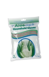 Medline Aloe Touch Household Latex Gloves - Pack of 8