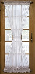 "72"" x 40"" Sea Glass Semi-Sheer Door Panel - White (03600-45-072-01)"