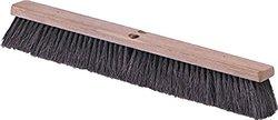 24 in. Tampico Black Fine/Medium Sweep (Pack) 12