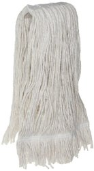 4-Ply Blended Natural& Synthetic Fibers 12oz Cut End Wet Mop Head - 12-Pk