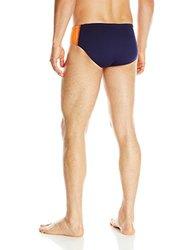 TYR SPORT Men's Phoenix Splice Racer Swimsuit (Navy/Orange, Size 26)