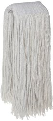 Zephyr 24304 Blendup 4-Ply Blended Natural and Synthetic Fibers 24oz Cut End Wet Mop Head with Wide Band (Pack of 12)