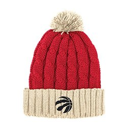 NBA Toronto Raptors Men's X-Mas Cuffed Knit Pom, One Size, Red/Cream