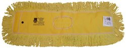 "Zephyr 12366 Pro-Blend Yellow Dust Mop Head - 60"" Length x 5"" Width"