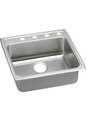 "Elkay Lustertone 18-Ga Stainless Steel 22""x22""x5.5"" 1-Bowl Top Mount Sink"