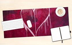 "KESS InHouse Steve Dix ""Miss You"" Office Desk Mat, Blotter, Pad, Mousepad, 13 x 22-Inches"