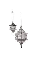 Urban Trends Home & Garden Accents 2 Piece Metal Decorative Lantern Set