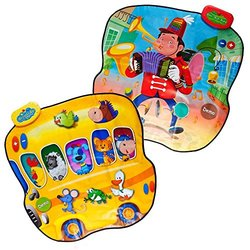 Double Sided Animal Bus & 1-Man-Band Playable Touch Sensitive Music Mat with 20 Sounds & 6 Songs by Dimple