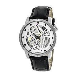 Reign Xavier Men's Watch: Rn3901/Black Band-white-silver Dial