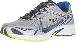 Fila Men's Omnispeed Sneaker - Metallic Silver/Navy/Lime Punch - Size: 11