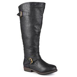 Journee Women's Spokane Wide Calf Riding Boots - Black - Size: 8