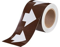 "Brady 4"" x 30 Yards Pressure Sensitive Vinyl Arrow Sign Tape (109930)"