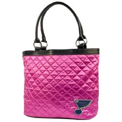 Little Earth Women's NHL Columbus Blue Jackets Pink Quilted Tote Bag