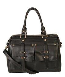 Rimen & Co. Doctor Style Women Handbag Purse: Black