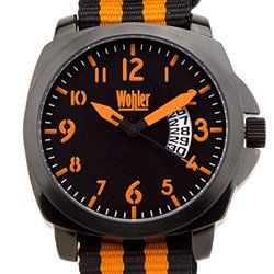 Wohler Ajax Men's sport watch, NATO strap, bold luminescent colors