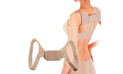 Straight U Back Posture Corrector Shoulder Brace - Nude