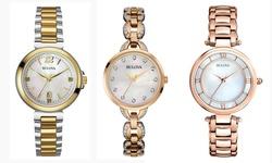 Bulova Womans Watches: Rose-gold Crystal Bracelet - 98l207xg
