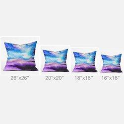 DENY Designs Jacqueline Maldonado Noche Azul Outdoor Throw Pillow, 16 x 16