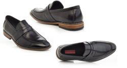 Solo Men's Slip-On Loafers - Black - Size: 9