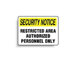 Brady 95489, Security Notice Sign (Pack of 12 pcs)