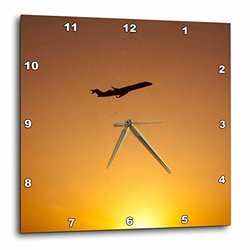 3dRose Texas Dallas Airport, American Airlines - Us44 Cmi0009 - Cindy Miller Hopkins - Wall Clock, 13 by 13-Inch (dpp_94427_2)