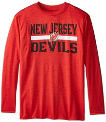 NHL New Jersey Devils Shoot Out L/S Tee, X-Large, Red