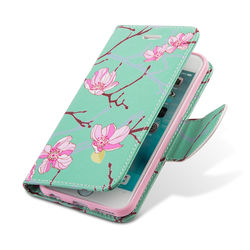 Trendy Flip Wallet Case for iPhone 6 Plus/6S Plus - Cherry Blossom
