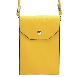 "6.5""x4.5""x1"" Trendy Cross Body Smartphone Bag - Yellow"