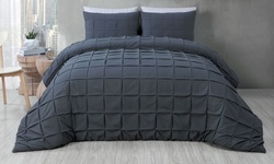Madison 3-Piece Duvet Cover Set - Charcoal - Size: Queen