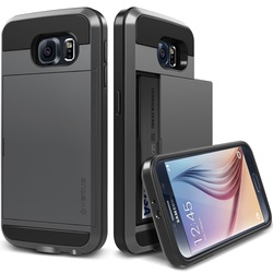 Verus Damda Slide Card Slot Case for Samsung Galaxy S6 - Dark Silver
