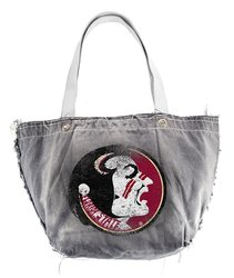Littlearth Women's NCAA Florida State Seminoles Vintage Tote - Black