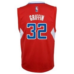 adidas Youth NBA Los Angeles Clippers Blake Griffin #32 Jersey - Red - M