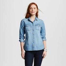 Mossimo Women's Button Down Shirt - Indigo - Size: Large