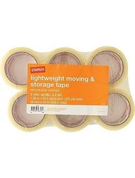 """Lightweight moving and storage tape 6 rolls 2.2 mil 1.88""""x 54.6 yards each"""