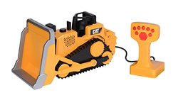 Toy State Caterpillar Construction Machines Light and Sound Job Site Machine Bulldozer (Styles May Vary)