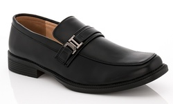 Franco Vanucci Men's Slip-On Dress Shoes Rickey-5 - Black - Size: 8.5