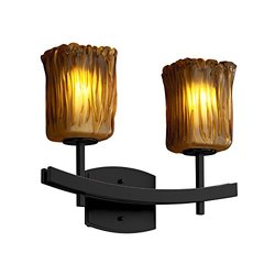 "Justice Design Group Matte Black Veneto Luce 4.5"" Bathroom Vanity Light"