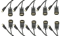 C&E 10 Feet HDMI Male to DVI Male Cable - Pack of 10 (CNE544090)
