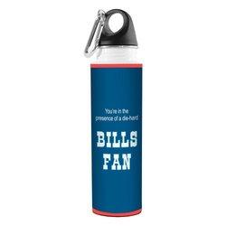 Tree-Free Greetings VB48110 Football Fan Artful Traveler Stainless Steel Water Bottle, 18-Ounce, Bills
