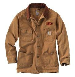 NCAA Oklahoma State Cowboys Men's Weathered Chore Coat - Size: Large