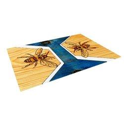 "Kess InHouse Brittany Guarino ""Bees"" Outdoor Floor Mat/Rug, 5-Feet by 7-Feet"