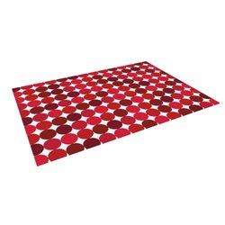 "Kess InHouse Kess Original ""Noblefur Red"" Dots Outdoor Floor Mat/Rug, 4 by 5-Feet"