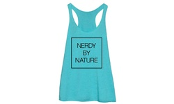 Nature Men's Racerback Nerdy By Nature T-shirt - Teal - Size: L