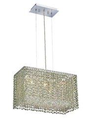 Elegant Lighting 1291D18C-LP/RC Moda 11-Inch High 3-Light Chandelier, Chrome Finish with Light Peridot (Light Green) Royal Cut RC Crystal