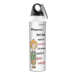 Tree-Free Greetings VB47800 Aunty Acid Artful Traveler Stainless Steel Water Bottle, 18-Ounce, Lie Down