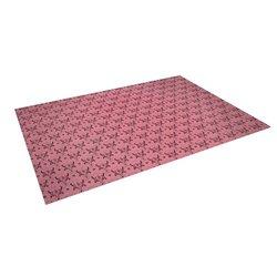 """Kess InHouse Louie Gong """"Pink Hummingbird Pattern"""" Outdoor Floor Mat/Rug, 5 by 7-Feet"""