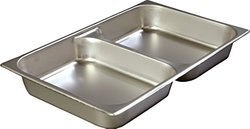 "Carlisle 607002D DuraPan 18-8 Stainless Steel Full-Size Divided Food Pan, 10.4 qt. Capacity, 20-3/4 x 12-3/4 x 2-1/2"" (Case of 6)"